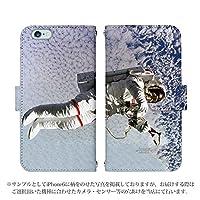 AQUOS PHONE ZETA SH-01F 手帳型 ケース [デザイン:Design3/マグネットハンドあり] 宇宙 宇宙飛行士 スペースシャトル アクオス スマホ カバー