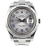 [ロレックス]ROLEX 腕時計 パーペチュアル デイトジャストⅡ ブラック/ブラックローマ 116334 メンズ [並…
