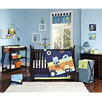 NoJo Baby Bots Crib Bedding Set [並行輸入品]