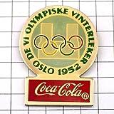 限定 レア ピンバッジ オリンピック五輪オスロ1952年コカコーラ ピンズ フランス
