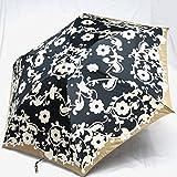 ブランド傘 ハナエ モリ HANAE MORI(折りたたみ)黒(アラベスク)