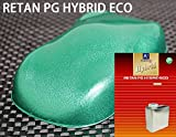 コスト削減に!レタンPG ハイブリッド エコ ライトグリーンメタリック 粗目 1kgセット(シンナー付)/自動車用 1液 ウレタン 塗料 関西ペイント ハイブリット