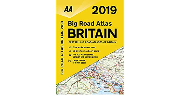 amazon aa 2019 big road atlas britain aa road atlas britain