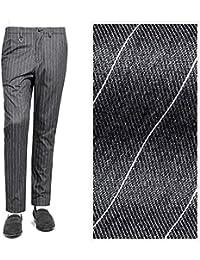 ソリード SOLIDO / 【国内正規品】コットンストレッチフランネルストライプ1プリーツパンツ『CORNIOLO』 (C.GRAY/チャコールグレー) メンズ