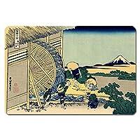 浮世絵 捺印マット UNM-4001 葛飾北斎 - 隠田の水車