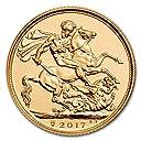 7.32グラム 純金 イギリス 200年記念 ソブリン 22K 純金 ゴールド 2017年 金貨 インゴット コイン カプセル クリアーケース付き