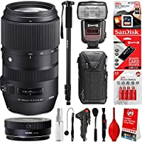 Sigma 100–400mm f/5–6.3OS HSM Contemporaryレンズfor Canonカメラ+ 20pcバンドルfor 80d、77d、70d、60d、60da、50d、7d、6d、5d、5ds、1ds、t7i、t7s、t7、t6s、t6i、t6、t5i、t5、sl2and sl1