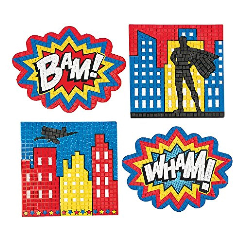 Superhero Extreme Mosaic Kit (4 piece) 30cm . Paper.