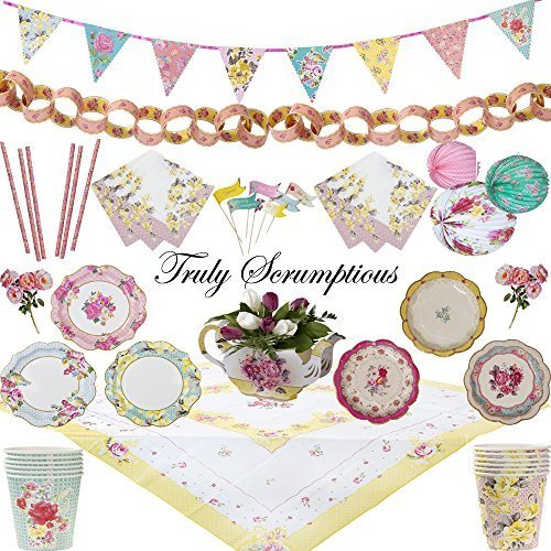 Truly Scrumptious Mega Party Pack Tableware and Decorations Wedding Tea Party Hen Party by Talking Tables [並行輸入品]