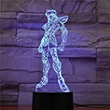 アミーネフィギュア聖闘士星矢Led3DナイトライトカラーチェンジングチルドレンナイトランプボーイズギフトおもちゃRGB3Dルミナリア