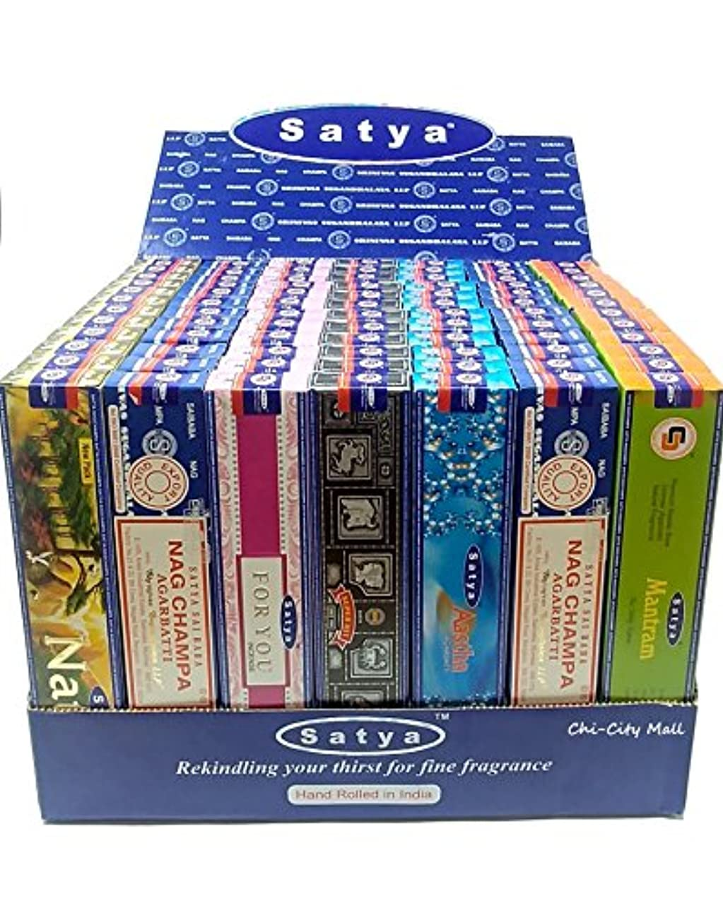 放置傑作異常なchi-city Mall (7-pack / 105g) – Satya Nag Champa Incense Sticks  詰め合わせギフトセットシリーズ  hand-rolled Agarbatti   Sai...