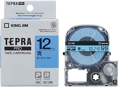 キングジム テープカートリッジ テプラPRO 12mm SC12B 青