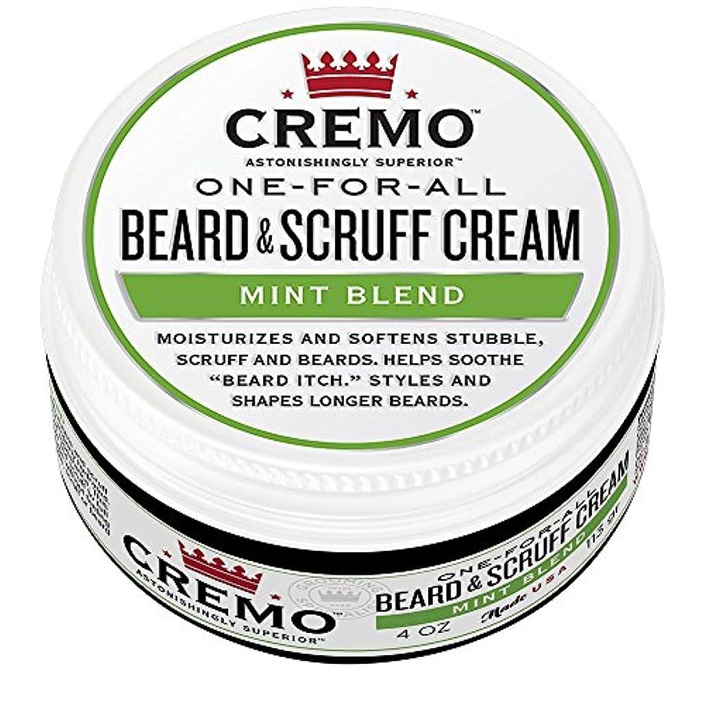 Cremo ビアード&首筋クリーム、ミントのブレンドの香り、潤い、スタイルとひげのすべての長さについてはビアードかゆみを軽減し、4オンスをブレンド、包装は変更になる場合があります