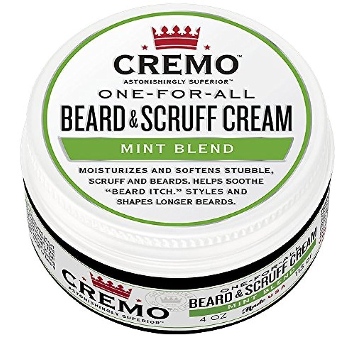 満州高層ビルモンクCremo ビアード&首筋クリーム、ミントのブレンドの香り、潤い、スタイルとひげのすべての長さについてはビアードかゆみを軽減し、4オンスをブレンド、包装は変更になる場合があります