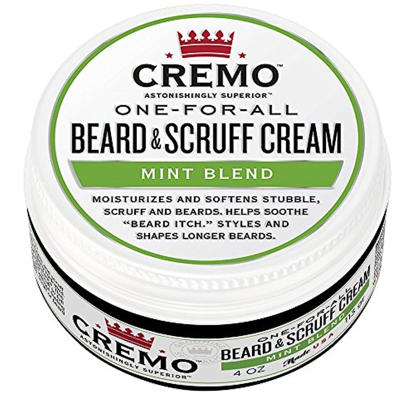 相関する半導体肺Cremo ビアード&首筋クリーム、ミントのブレンドの香り、潤い、スタイルとひげのすべての長さについてはビアードかゆみを軽減し、4オンスをブレンド、包装は変更になる場合があります