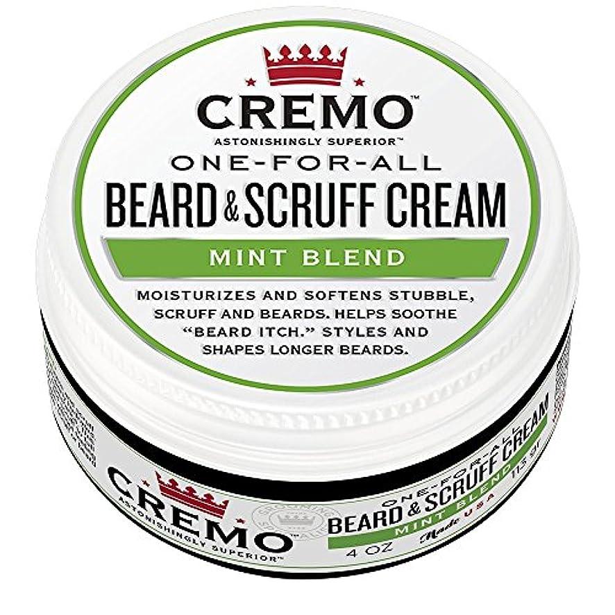 進化晴れ重荷Cremo ビアード&首筋クリーム、ミントのブレンドの香り、潤い、スタイルとひげのすべての長さについてはビアードかゆみを軽減し、4オンスをブレンド、包装は変更になる場合があります