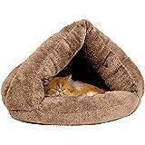 「改良型」猫 ベッド ドーム型猫ハウス ペットベッド キャットハウス ペット用寝袋 クッション ドーム型 こたつ 寝袋 秋冬用 室内用 洗える ぐっすり眠れる 多機能2WAY 冬寒さ対策 ペット用品(L/らくだ色) …
