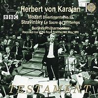Mozart: Divertimento No. 15, K.287 / Stravinsky: The Rite of Spring ~ Karajan (2009-10-13)