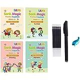 Sank Magic Practice Copybook Magic Writing Copybook Reusable Writing Practice Book for Kids Magic Writing Board Reusable Call