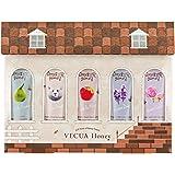 ベキュア ハニー(VECUA Honey) ワンダーハニー 蜜蜂の森のハンドクリームギフト ペア&フローラル、メイプルハニー、林檎はちみつ、ラベンダードリーム、お花のジュレ 20g×5