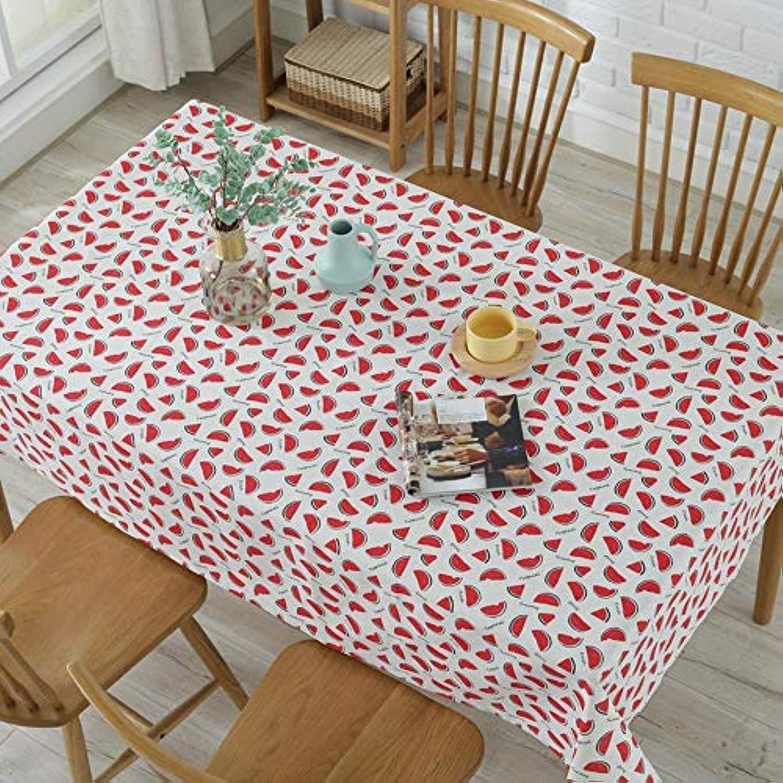 がっかりした斧制約LIJIAN 小さなスイカのプリントunsubdividedポリエステル綿のレストラン居住ダイニングテーブルクロスの撮影の背景の布 (Color : Watermelon, Size : 120*160CM)