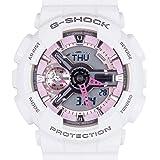 Casio G-Shock S-Series GMA-S110MP-7A White Pink Midsize Digital Analog Women's Watch