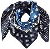 [ビームス デザイン] スカーフ シルク ブルー レディース 50605505C 日本 52cm×52cm (FREE サイズ)