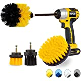 Drill Brush Attachment Set, JUSONEY Power Scrubber Drill Brush Kit, Scrub Brush with Extend Long Attachment, Scrubing Pads Cl