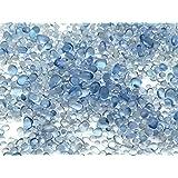 極小 ガラス玉 クリアブルー 雨粒のたね 10g 1mm~3mm レジン パーツ 封入 アクセサリーパーツ