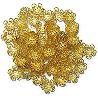 高品質ビーズキャップ(ゴールド色)10mm(100個入り)