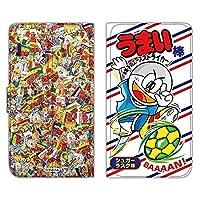 うまい棒 Huawei Mate S CRR-L09 ケース 手帳型 薄型プリント手帳 シュガーラスク味 (ub-015) スマホケース ファーウェイ メイト エス 手帳 カバー 全機種対応 WN-LC955401_L