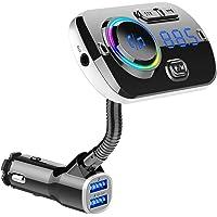 FMトランスミッター Bluetooth5.0 シガーソケット Mp3プレーヤー Siri&Google Assista…