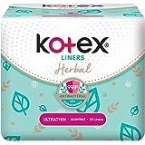 Kotex Herbal Ultrathin Anti-Bacterial Feminine Care Liners, 25 Count