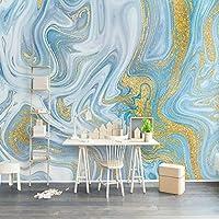 Mingld カスタム壁画壁紙3Dエンボス加工ブルーテクスチャ大理石の壁紙ファッション高級ラインリビングルームテレビソファ家の装飾-400X280Cm