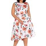 Calvin Klein Women's Plus Size Sleeveless Dress with Hi Low Hem