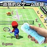 【E-game】 Wiiリモコン アオ WiiU Wii 対応 コントローラー (Wiiリモコンジャケット 同梱) クリーニングクロス & 日本語説明書 & 1年保証付き