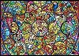 266ピース ジグソーパズル ディズニー キャラクター ピュアホワイト オールスターステンドグラス ぎゅっとシリーズ (18.2x25.7cm)