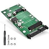 ELUTENG mSATA SATA 変換 アダプター 30x50mm Mini-SATA to 2.5インチ SATAコンバーター SATA 3.0 6Gbps mSATA 変換 SATA 高排熱性 mSATA ケース 自作 PC パーツ mSAT