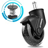 """ATOMDOC Office Chair Caster Wheels, 3"""" Newly Lightweight Caster Wheels & Revolutionary Swivel Vertical Axle, Safe Protection"""