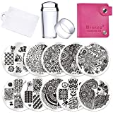 Biutee 10 Nail Plates 1 Stamper 1 Scraper Nail Art Image Stamp Stamping Plates Manicure Template Nail Art Tools