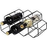 金属製 ワインボトルホルダー ワインスタンド 積み重ね式 ワイン棚 9本用 ワインラック ワイン収納 シャンパンホルダー ワインストレージ 家飾り