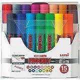 三菱鉛筆 水性ペン プロッキーツイン 15色 PM150TR15CN