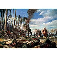 Wwii Pacific Campaign 1944 Nfollow Me Colonel Aubrey S Newman Leading The 3Rd Battalion Of The 35Th US Army Infantry Regiment Across Red Beach Leyte Philippine Islands 20 October 1944 Painting By H Ch