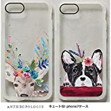 アンソロポロジー Anthropologie iPhone7ケース 鹿/フレンチブルドッグ 犬 クリア (鹿) [並行輸入品]