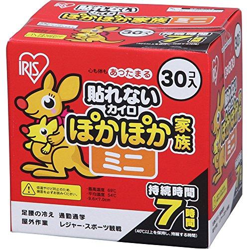 アイリスオーヤマ PKN-30M ぽかぽか家族 [ミニカイロ(30個入り)] 使い捨てカイロ