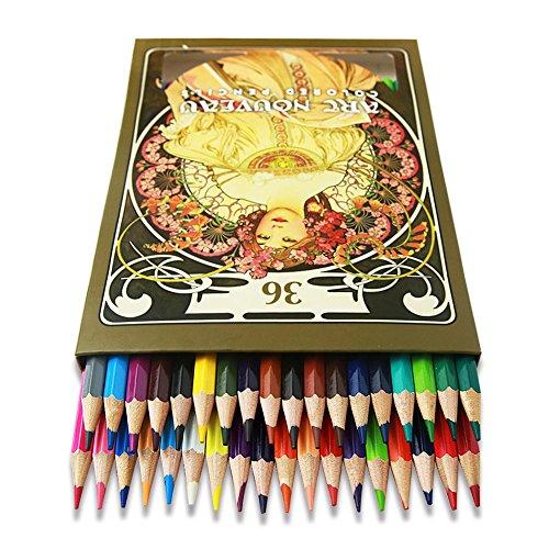 GXQ 色鉛筆 36色 塗り絵 落書き 学生子供 プレゼント用 携帯便利 収納ケース付き