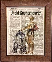 Droid Counterparts Star Wars辞書ブックページアートワーク印刷画像ポスターホームオフィス寝室子供部屋キッチン壁装飾–Unframed