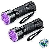 WEISMAN Black Light Flashlight,21 LED Lamp Beads UV Flash Light,Suitable for Pet Urine,UV Light Detector for Liquid Stains (6