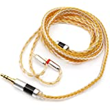 Linsoul Tripowin Zonie 16 Core Silver Plated Cable SPC Earphone Cable (2pin 0.78-3.5mm, Gold)