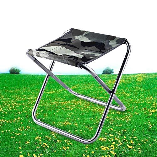 アウトドアチェア 折り畳み椅子 コンパクト椅子 超軽量椅子 280g 耐荷重 80kg イス 持ち運びに便利 簡単に収納 組み立て 収納袋付き キャンプ お釣り 登山 お花見 花火大会用 (グレー迷彩)